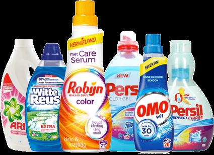 Alle merken zoals Robijn, Ariel en Witte Reus